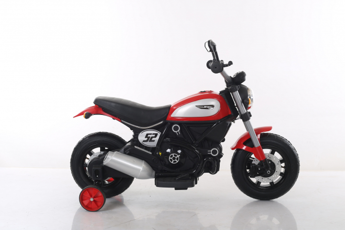 Motocicleta electrica pentru copii BT307 60W CU ROTI Gonflabile #Rosu 7
