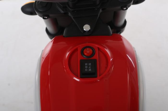 Motocicleta electrica pentru copii BT307 60W CU ROTI Gonflabile #Rosu 6