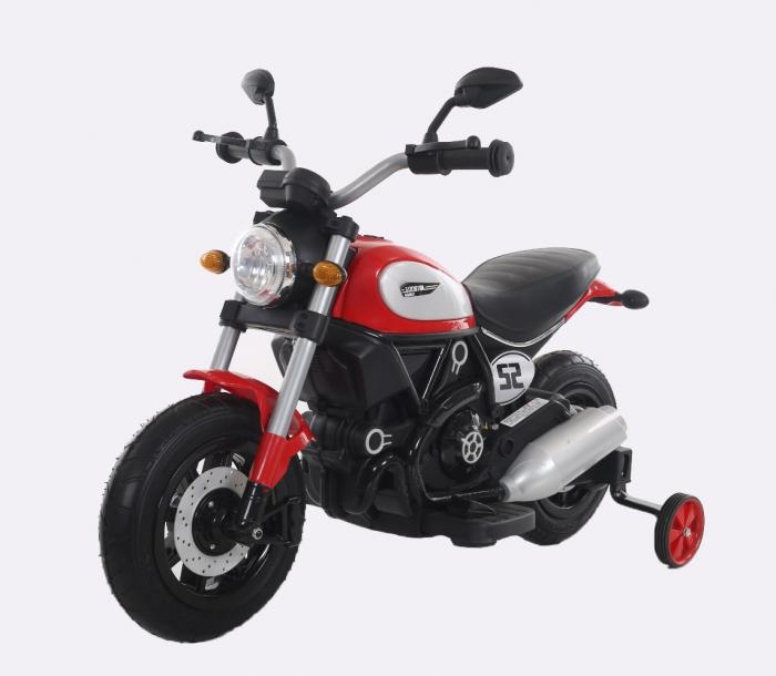 Motocicleta electrica pentru copii BT307 60W CU ROTI Gonflabile #Rosu 0