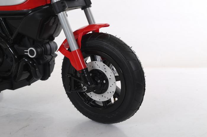 Motocicleta electrica pentru copii BT307 60W CU ROTI Gonflabile #Rosu 2