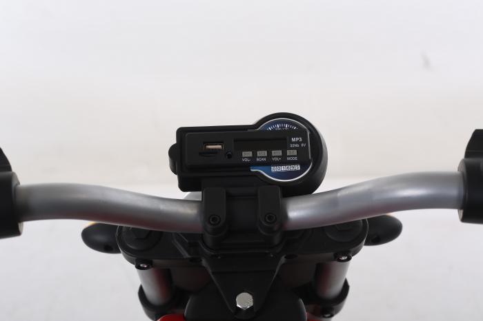Motocicleta electrica pentru copii BT307 60W CU ROTI Gonflabile #Verde 4