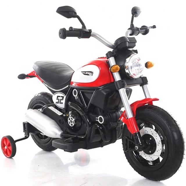 Motocicleta electrica pentru copii BT307 60W CU ROTI Gonflabile #Rosu [0]