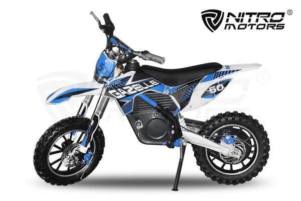 Motocicleta electrica pentru copii Eco Gazelle 500W 24V #Albastru [0]