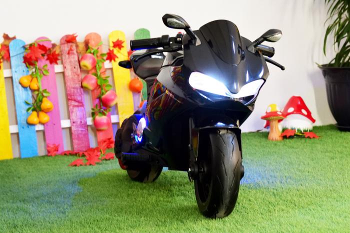 Motocicleta electrica copii 3-9 ani, SX1629, neagra [2]