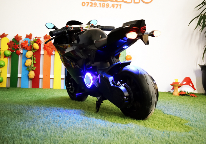Motocicleta electrica copii 3-9 ani, SX1629, neagra [8]