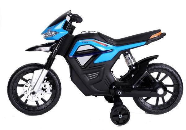 Motocicleta electrica pentru copii, motor 45W, albastra 4
