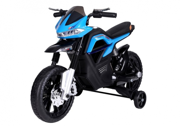 Motocicleta electrica pentru copii, motor 45W, albastra 3