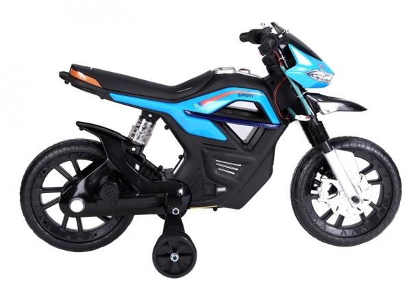 Motocicleta electrica pentru copii, motor 45W, albastra 2