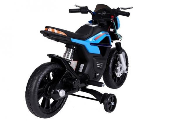 Motocicleta electrica pentru copii, motor 45W, albastra 1