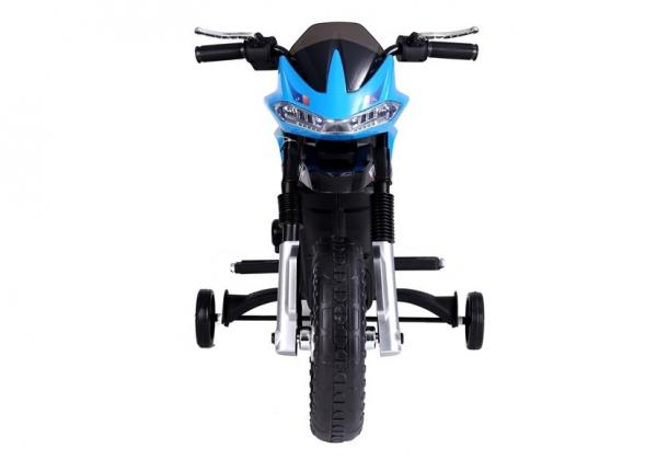 Motocicleta electrica pentru copii, motor 45W, albastra 6