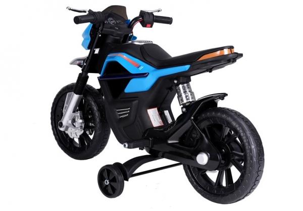 Motocicleta electrica pentru copii, motor 45W, albastra 5