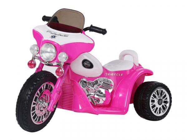 Motocicleta electrica pentru copii, POLICE JT568 35W STANDARD #Roz 0