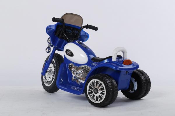 Motocicleta electrica pentru copii, POLICE JT568 35W STANDARD #Albastru 3