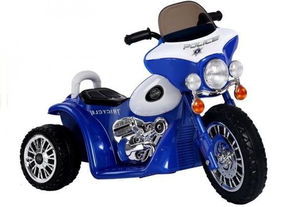 Motocicleta electrica pentru copii, POLICE JT568 35W STANDARD #Albastru 0