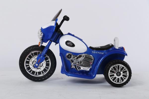 Motocicleta electrica pentru copii, POLICE JT568 35W STANDARD #Albastru 2