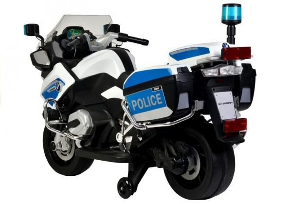 Motocicleta electrica POLICE BMW R1200 CU ROTI MOI #Alb 1