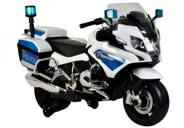 Motocicleta electrica POLICE BMW R1200 CU ROTI MOI #Alb 0