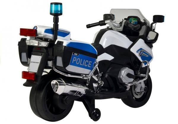 Motocicleta electrica POLICE BMW R1200 CU ROTI MOI #Alb 2