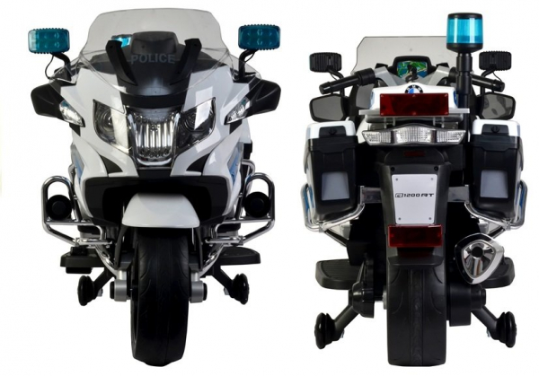 Motocicleta electrica POLICE BMW R1200 CU ROTI MOI #Alb 3