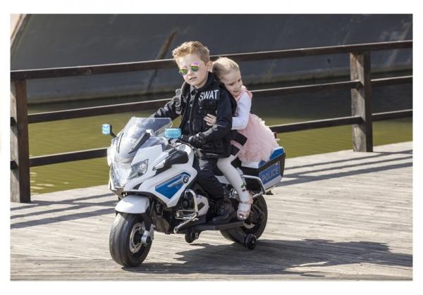 Motocicleta electrica POLICE BMW R1200 CU ROTI MOI #Alb 5