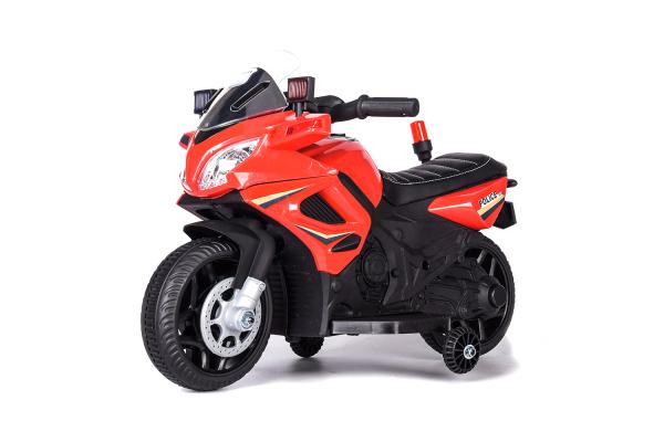 Motocicleta electrica POLICE cu roti ajutatoare STANDARD #Rosu 0