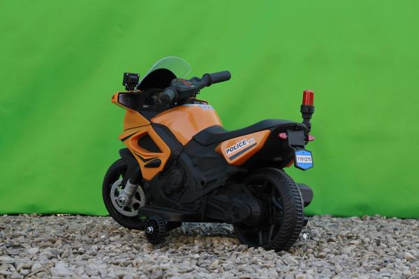 Motocicleta electrica POLICE cu roti ajutatoare STANDARD #Orange 5