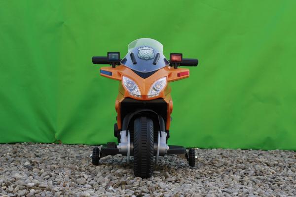 Motocicleta electrica POLICE cu roti ajutatoare STANDARD #Orange 1