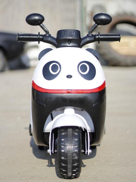 Tricicleta electrica pentru copii Panda 20W 6V #Alb 5
