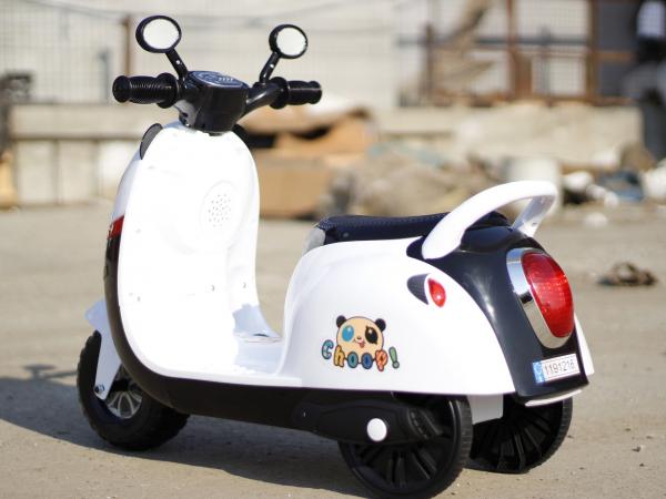 Tricicleta electrica pentru copii Panda 20W 6V #Alb 3