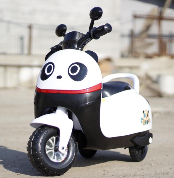 Tricicleta electrica pentru copii Panda 20W 6V #Alb 1