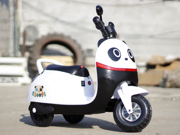 Tricicleta electrica pentru copii Panda 20W 6V #Alb 6