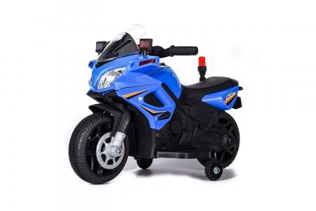 Motocicleta electrica POLICE cu roti ajutatoare STANDARD #Albastru 0