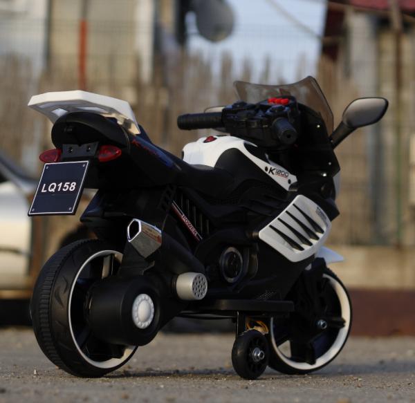Motocicleta electrica pentru copii LQ158 20W STANDARD #Alb 3
