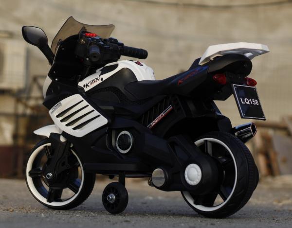 Motocicleta electrica pentru copii LQ158 20W STANDARD #Alb 4