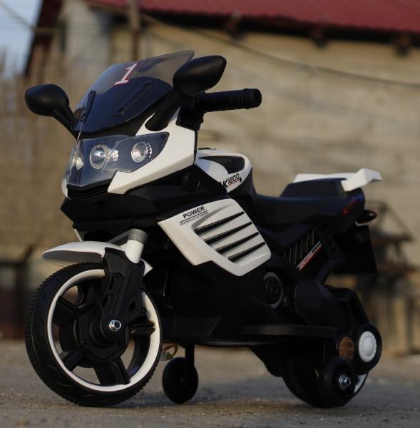Motocicleta electrica pentru copii LQ158 20W STANDARD #Alb 2