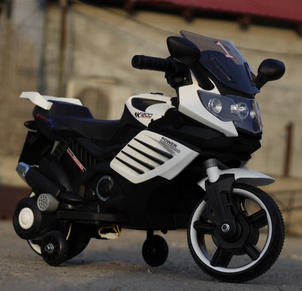 Motocicleta electrica pentru copii LQ158 20W STANDARD #Alb 1