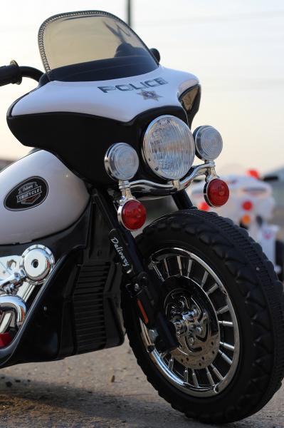 Motocicleta electrica pentru copii, POLICE JT568 35W STANDARD #Alb 7