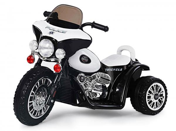 Motocicleta electrica pentru copii, POLICE JT568 25W STANDARD #Alb 0
