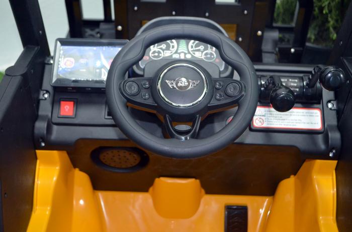 Motostivuitor electric pentru copii BJD08 90W 12V DELUXE #Galben [6]
