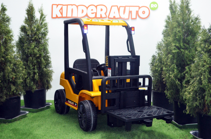 Motostivuitor electric pentru copii BJD08 90W 12V DELUXE #Galben [3]