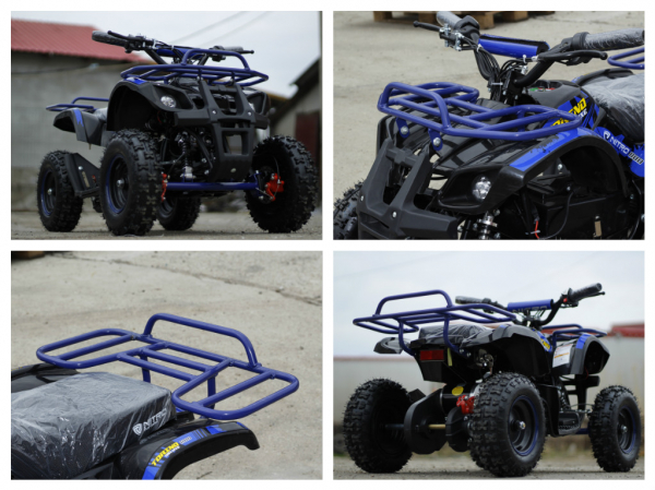 Mini ATV electric NITRO Torino Deluxe Quad 800W 36V #Albastru 6