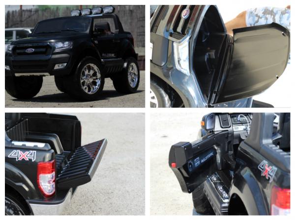 Masinuta electrica Ford Ranger 4x4 cu ROTI MOI 4x45W #Negru 6
