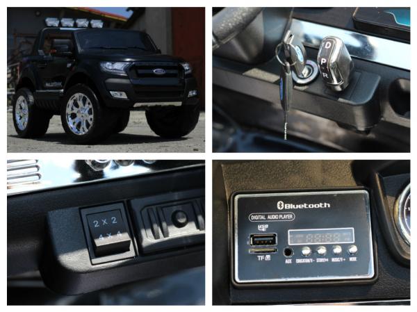 Masinuta electrica Ford Ranger 4x4 cu ROTI MOI 4x45W #Negru 7