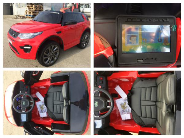 Kinderauto Land Rover Discovery DELUXE cu Touchscreen Mp4 #Rosu 6
