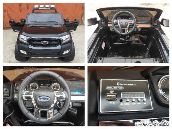 Masinuta electrica Ford Ranger WildTrak STANDARD 2x 35W 12V #Negru 8