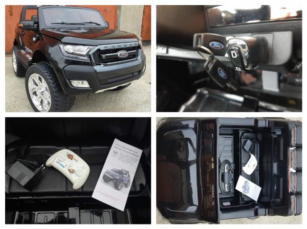 Masinuta electrica Ford Ranger WildTrak STANDARD 2x 35W 12V #Negru 7