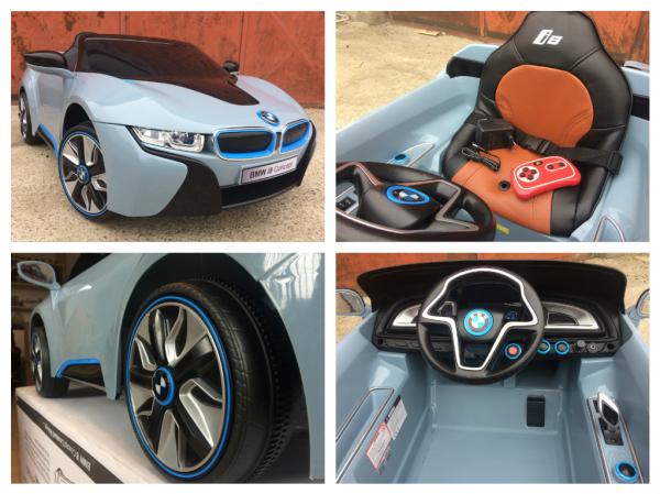 Masinuta electrica copii 2-7 ani BMW i8, albastru [6]