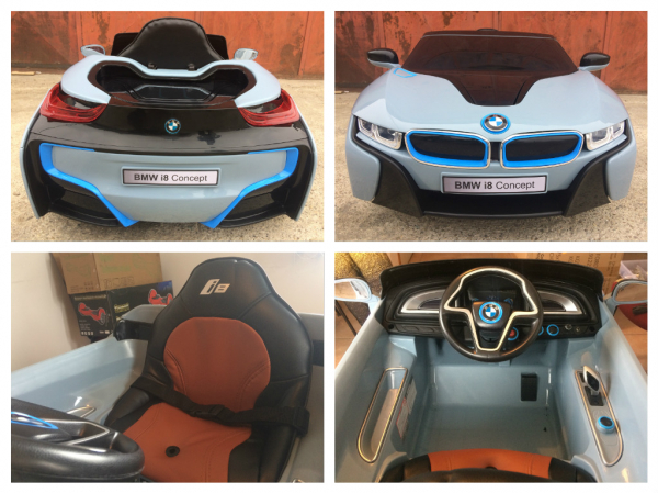 Masinuta electrica copii 2-7 ani BMW i8, albastru [7]
