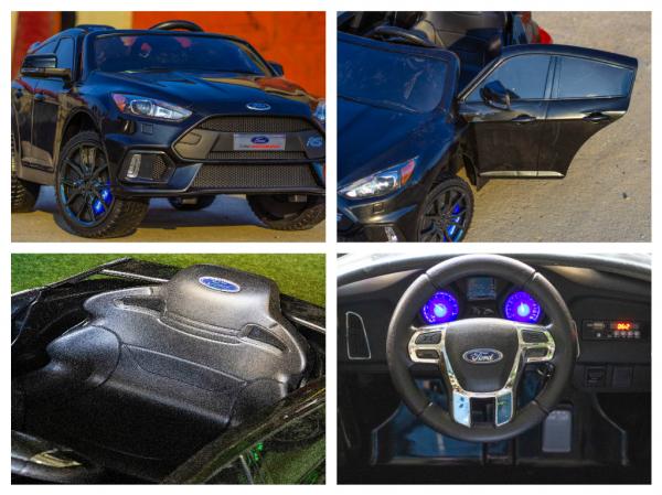 Masinuta electrica Ford Focus RS CU ROTI MOI #Negru 8