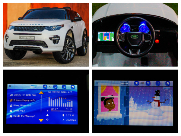 Masinuta electrica Land Rover Discovery DELUXE cu Touchscreen Mp4 #ALB 6
